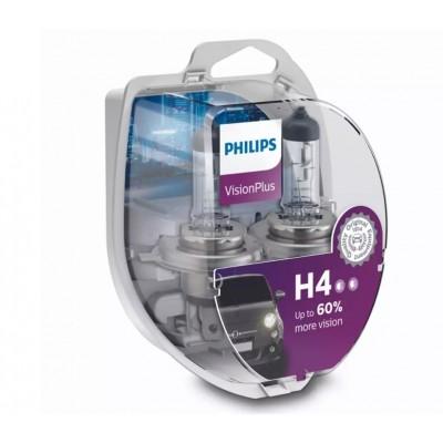 ŻARÓWKI H4 12V 55W VISIONPLUS +60% PHILIPS