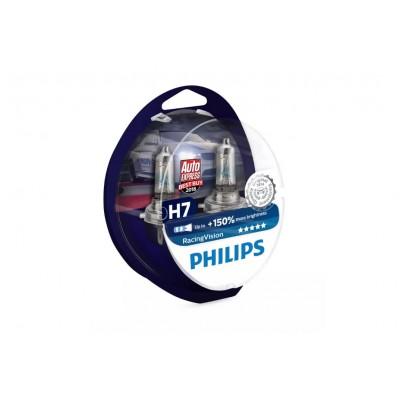 ŻARÓWKI H7 12V 55W RACING VISION +150% PHILIPS