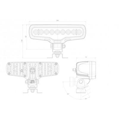 LAMPA ROBOCZA LED 12-24V 1078