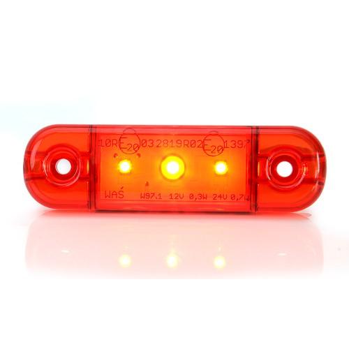 LAMPA OBRYSOWA CZERWONA 12-24V LED 709