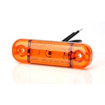 LAMPA OBRYSOWA POMARAŃCZOWA 12-24V LED 708