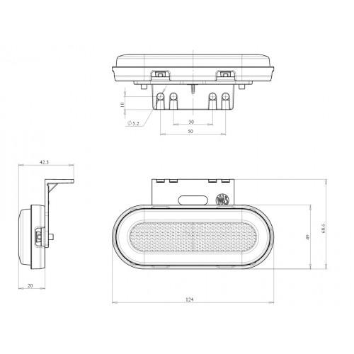 LAMPA OBRYSOWA POMARAŃCZOWA 12-24V LED NEON 1399