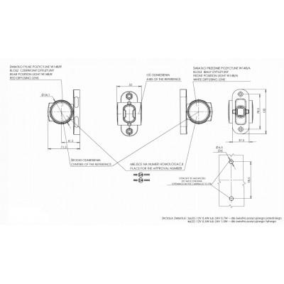 LAMPA OBRYSOWA 12-24V LED 1099