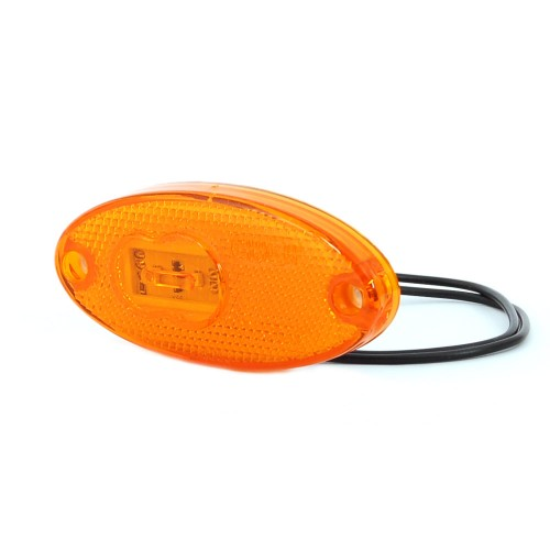 LAMPA OBRYSOWA POMARAŃCZOWA 12-24V LED 308P