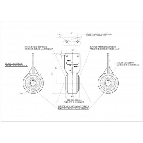 LAMPA OBRYSOWA 12-24V LED 448BC