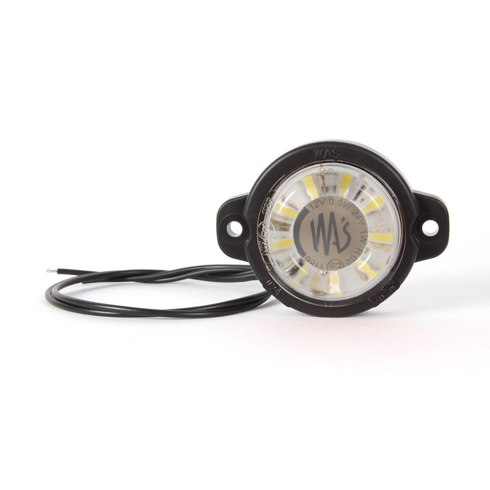 LAMPA OBRYSOWA BIAŁA 12-24V LED 519