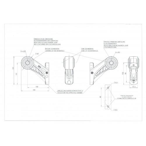 LAMPA OBRYSOWA 12-24V LED 626BCL
